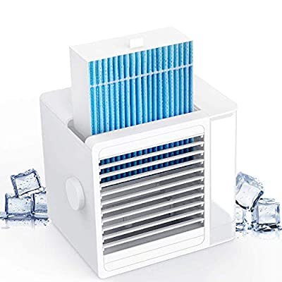Brizer Glacier AC Portable Air Conditioner for Small Room- Indoor Personal Cooler, Small Cube Air Conditioner and Mini Air Cooler, Cooling Device Water Cooled, Portable AC- Evaporative Cooler for Desk