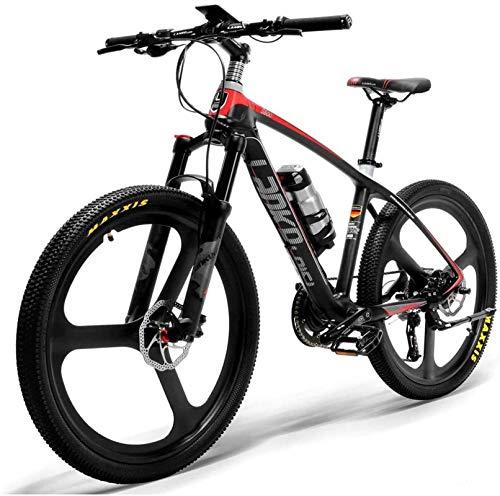 Bicicleta de montaña eléctrica, 26 '' Marco de fibra de carbono eléctrico de bicicleta de carbono 240w Mountain Bike Torque Sensor System System El aceite y el gas Lockable Suspension Fork ,Bicicleta