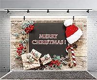 Qinunipoto クリスマス 背景 撮影 撮影背景 撮影用 背景布 プロ級写真撮影用 撮影用バックペーパー 人物撮影 子供撮影 背景シート メリークリスマス 写真館 撮影スタジオ用 パーティー ビニール製 3.5x2.5m