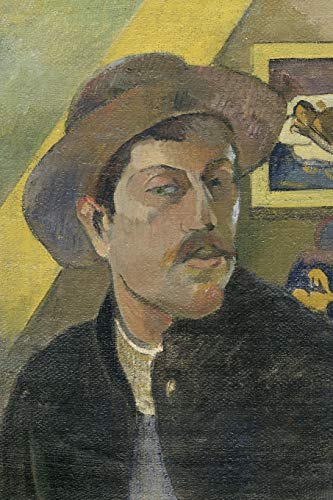 Art Journal: Paul Gauguin - Self-portrait with a hat - Art Cover College Ruled Notebook | 110 Pages