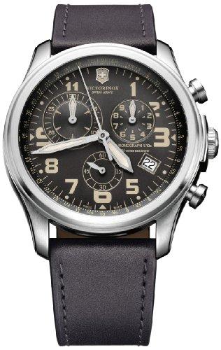 Victorinox Swiss Army Herren-Armbanduhr XL Classic Infantry Chronograph Quarz Leder 241578