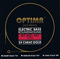 Optima 24 K Gold Plated Bass Guitar Strings .040-.095