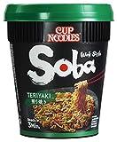Nissin Cup Noodles Soba Cup – Teriyaki, 8er Pack, Wok Style Instant-Nudeln japanischer Art, mit Teriyaki-Sauce und Gemüse, schnell im Becher zubereitet, asiatisch Essen (8 x 90 g)