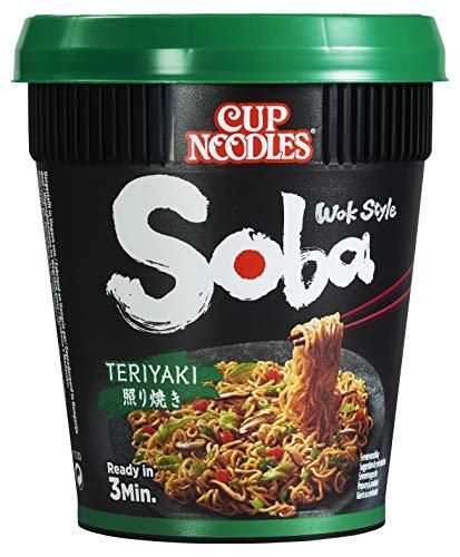 Nissin Instant Nudeln Soba Teriyaki Cup, 8er Pack (8 x 90 g)