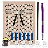 Eyebrow Microblading kit - WZPB 16pcs Eyebrow Permanent...