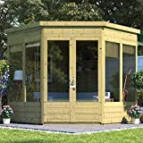 BillyOh | 7x7 Picton Corner Summerhouse | Tongue & Groove Garden Building | Floor and Roof Included | Available Pressure Treated - 7x7 (Pressure Treated)