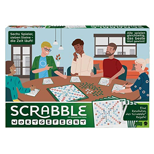 Mattel Games GTJ27 Scrabble Wortgefecht KreuzworträtselBrettspiel für Spieler und Spielerinnen ab 10 Jahren