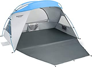 Bessport Beach Tent 2 & 3 Person UPF 50+ Easy Setup, Silver Coating Extra Large Tent for Beach Sun Shelter Canopy Lightweight with Extended Zippered Porch for Camping, Fishing