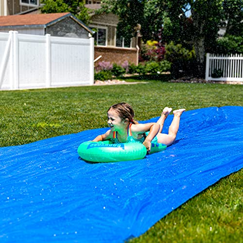 BACKYARD BLAST - 75' X 12' Heavy Duty Waterslide - Includes 2 Riders, Carrying Bag - Extra Thick to Prevent Tears & Rips - Easy to Assemble