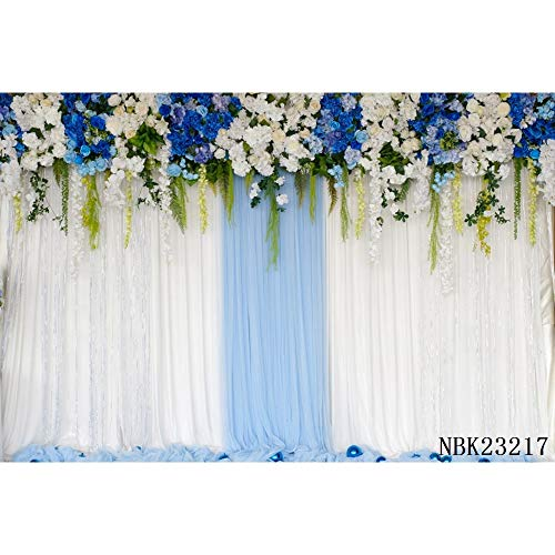 Wedding White Curtain Blossom Floral Garland Wall Party Photography Backgrounds Decoration Backdrops For Photo Studio A20 10x10ft/3x3m