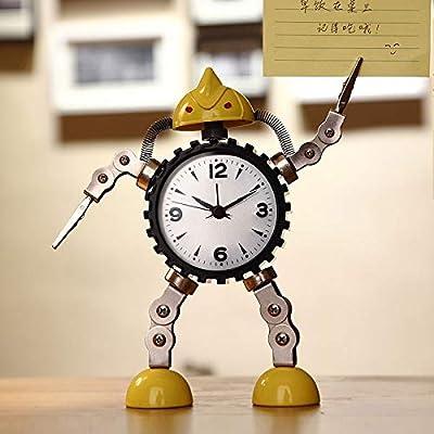 LYX Alarma Robot Clock_Creative Metal Gear Robot de Alarma de ...