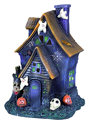 Ciao 31025 - Casetta Halloween in Ceramica con Luce, Soggetti Assortiti