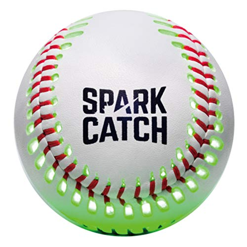 SPARK CATCH Light Up Baseball, Glow in The Dark Baseball. Baseball Gift for Boys, Kids, and Baseball Fans. Solution for Playing Catch at Night (Neon Green)