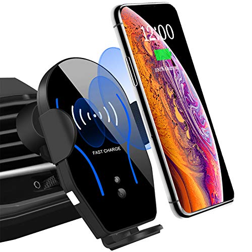 Wireless Car Charger Mount Auto-Clamping Air Vent Car Phone Holder 7.5W Fast Charging Compatible with iPhone 11 Pro Max/XS Max/XS/XR/8 Plus 10W for Samsung Galaxy S10/S9/S8 & Other Qi Smartphone