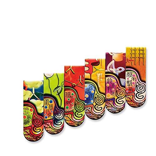KEHUITONG Segnalibri Creativi, Prodotti Artistici, Segnalibri Magnetici, Regali Di Arte Creativa In Stile Cinese, Segnalibri Magnetici, segnalibri da ufficio, (Color : A1)