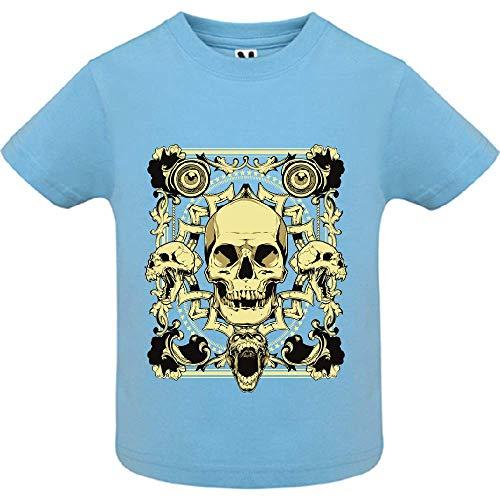 LookMyKase T-Shirt - Last Smile - Bébé Garçon - Bleu - 6mois
