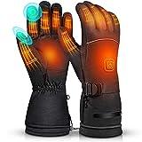 Faraone4w Guanti Riscaldati Moto con a Batteria Ricaricabile, Guanti Riscaldati USBGuanti Termici Uomo e Donna con 3 Temperature Regolabili, per Pesca, Sci, Bici, Caccia in Invernali (L)