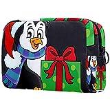 Estuche de Viaje cosmético, Estuche de Maquillaje, Estuche de Maquillaje, Regalo de cumpleaños, Navidad y pingüino, Regalo del día de la Madre