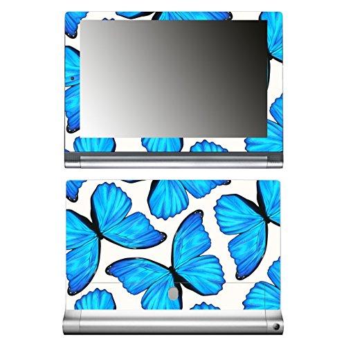 'Disagu SF de 106225_ 1272Diseño Skin para Lenovo Yoga Tablet 2–Diseño Mariposas Azul Grande, Transparente