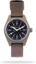 Marathon Watch General Purpose Mechanical (GPM) Military Field Watch with Tritium and Sapphire Glass (34mm, Desert Tan, No Government Markings) WW194003DT-NGM