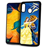 for Samsung Galaxy A20, A30, Durable Protective Soft Back Case Phone Cover, HOT30167 Beauty Beast 30167