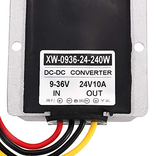 Modulo electronico DC Buck Power Converter 2A / 5A / 8A / 10A Protección múltiple Step Down Module Adaptador de voltaje para alarmas de automóvil LED Pantalla de automóvil Impermeable 9-36V a 24V