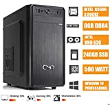 - CeO Alpha V8 - Unité centrale de bureau Intel G5400 3.70GHz 4Mo Cache | 8Go RAM DDR4 | 240Go SSD | Intel UHD Graphics 610 | HDMI/VGA | USB 3.0 | WINDOWS 10 PRO