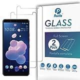 Pevita Protector de Pantalla para HTC U12 Plus [2 Packs] Cristal Templado HTC U12 Plus. Dureza 9H, Sin Burbujas, Fácil Instalación.