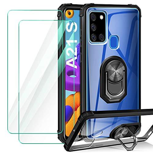 ivencase Funda Samsung Galaxy A21S + 2-Unidades Cristal Temp