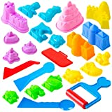 USA Toyz Sand Molds Beach Toys for Kids - 23pk Mini Sandbox Toys for Toddlers, Sand Castle Building Kit with Kinetic Sand Molds and Kinetic Sand Tools Compatible with Any Molding Clay and Play Sand
