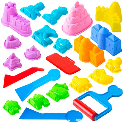 USA Toyz Sand Molds - 23pk Mini Sandbox Toys, Sand Castle Building Kit Compatible with Any Molding Sand