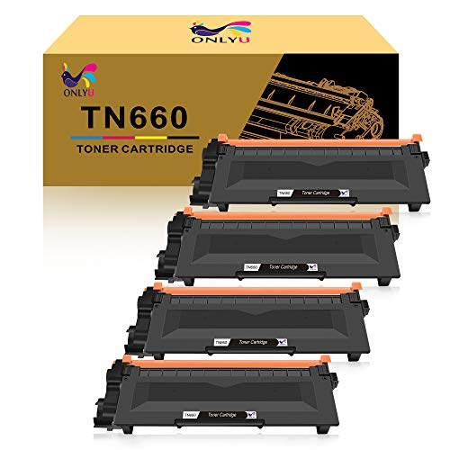 ONLYU Compatible Toner Cartridge Replacement for Brother TN660 TN630 DCP-2560DN MFC-L2707DW MFC-L2700DW HL-L2380DW DCP-L2540DW HL2340DW MFC-L2740DW MFC-L2685DW HL-L2300D Printer (Black, 4-Pack) -  ONLYU-660*4