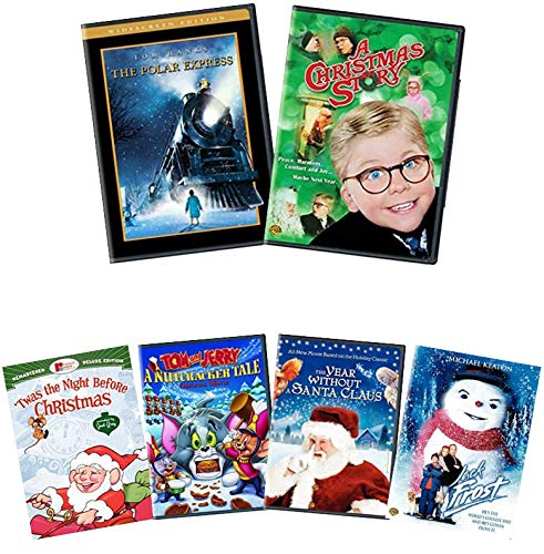 Holiday Family Favorites Collection: Polar Express / A Christmas Story + 4 Bonus Movies (Jack Frost / The Year Without Santa Claus / 'Twas the Night Before Christmas / Tom & Jerry: A Nutcracker Tale)