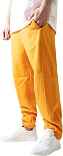 Urban Classics Men's Sweatpants Drawstring Joggers, Sport Waist, Tracksuit Trousers with Elasticated Zipped Ankles, Loose Fit