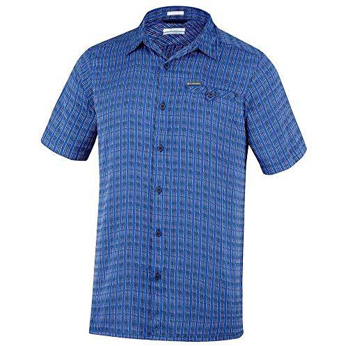 Columbia Declination Trail II Kurzarm Shirt Chemise pour Homme, Bleu Marine, XS