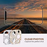 [2 Pack] Goton Bling Camera Lens Protector for iPhone 12 Pro Max, Glitter Diamond Lens Protective Decoration Sticker for iPhone 12 Pro Max 6.7inch(Silver+Rose Gold)