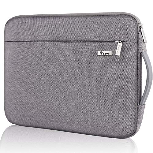 Voova Funda Portatil 11-11.6 11.3 Pulgada Upgraded Protector Maletín Bolso Compatible con Macbook Pro 2020,iPad Pro12.9, Surface Pro X/7/6/5, Chromebook, Sleeve para pc con Asa Y Bolsillo,Ceniza Caqui