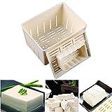 WCIC Tofu Maker Moule à Pression Kit DIY de Soja Appuyant sur Outil de Cuisine Moule à Fromage avec Chiffon de Nettoyage