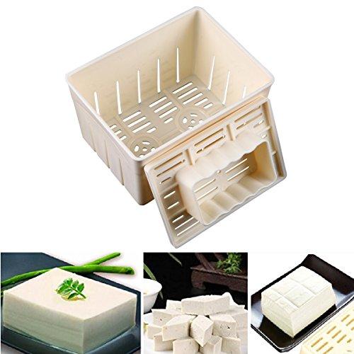 WCIC Tofu Hersteller Formen Gebäckpresse Drücken Form Kit DIY Soja Drücken Mould Küche Tool mit Käse Tuch