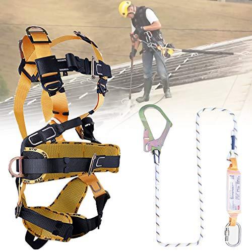 LXNQG 5-Point Sicherungsgurt für Dachdecker, Absturzsicherung Klettergeschirr, Langlebig und Stark Sicherheitsgurt Absturzsicherung, Comf Hosenträgergurt (Size : A)
