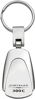 DanteGTS Chrysler 300C Schlüsselanhänger aus Chrom in Tropfenform, authentischer Logo Schlüsselanhänger, Schlüsselring, Schlüsselband, 8,25 cm lang x 2,54 cm breit