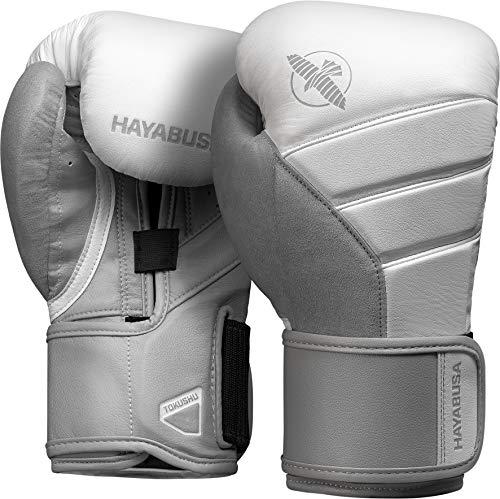 Hayabusa Boxhandschuhe, T3, weiß-grau Größe 16 Oz