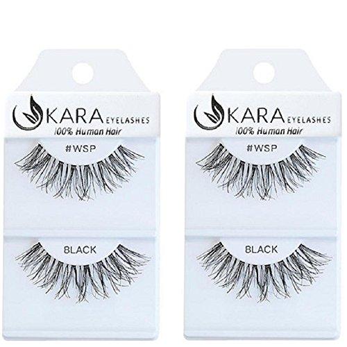 Kara Beauty Multipack Eyelashes 100% Human Hair Eyelashes Natural Look False Lashes Wispies- WSP (2PACK)