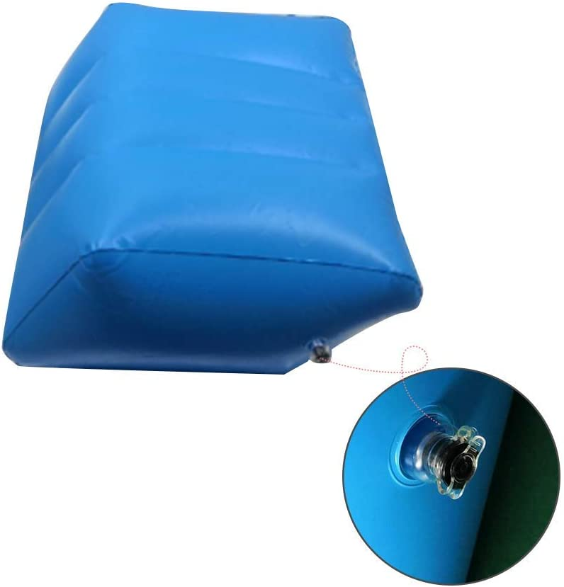 Inflatable Leg Pillow Travel Foot Rest Pillow For Relax Muscles And Comfort Swelling Inflatable Travel Leg Rest Pillow For Foot Rest On Airplanes Cars Buses Trains Office