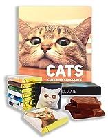 ネコ、Cats, すべての猫愛好家のためのチョコレートギフト、13x13cm, DA Chocolate (Domestic)
