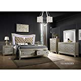 Kings Brand Furniture - 6-Piece Hayley King Size Bedroom Set. Bed, Dresser, Mirror, Chest & 2 Night Stands