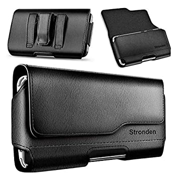 Stronden Holster for iPhone SE  2020  iPhone 8 7 6S Belt Case with Clip Apple iPhone 8 Leather Belt Clip Case Holster Pouch Phone Holder  Fits Otterbox Commuter/Symmetry Case