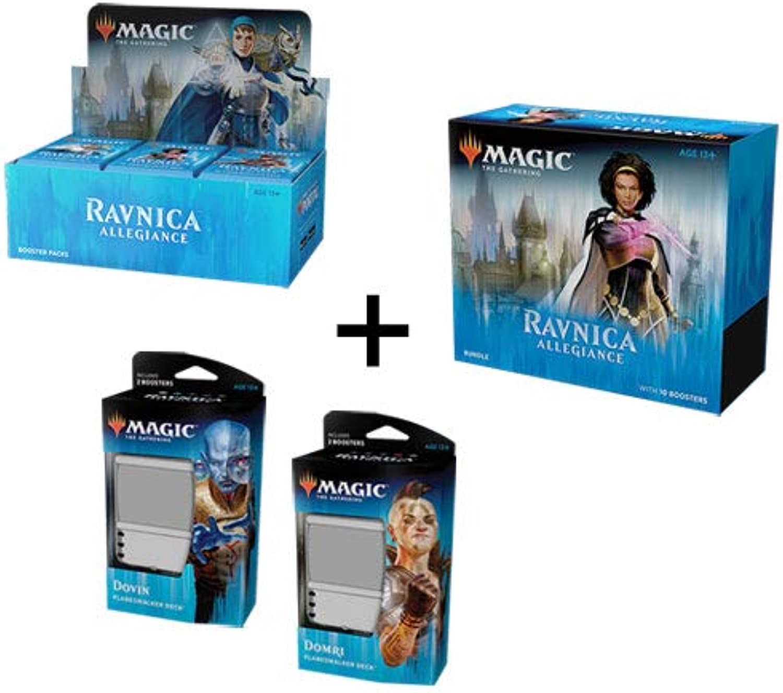 Magic The Gathering MTG Ravnica Allegiance Booster Box + Bundle + Both Planeswalker Decks