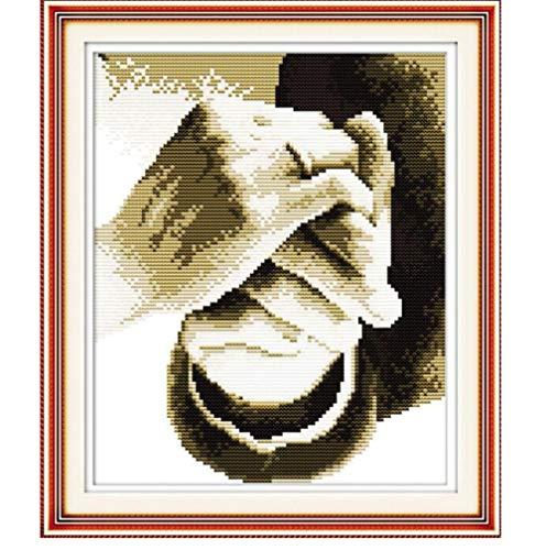 Handarbeitsstich DIY Kreuzstich-Sets für Stick-Kits Halten Sie Ihre Hand Muster gezählt Kreuzstich frei 11CT gedruckt gedruckt 37x42cm