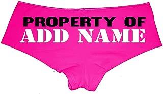 customize your own panties